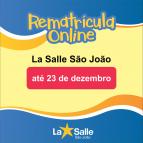 Prazo para rematrículas online encerra no dia 23/12