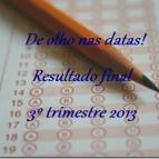 Resultado 3º trimestre 2013