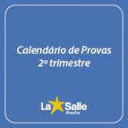 Calendário de Provas 2º trimestre