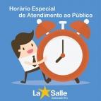 HORÁRIO ESPECIAL DE ATENDIMENTO AO PÚBLICO