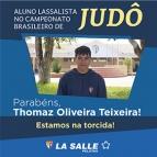 Aluno Lassalista no Campeonato Brasileiro de Judô
