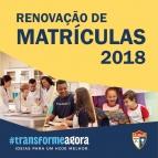 Renovação de Matrículas para o Ano Letivo - 2018