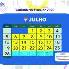 Calendário Escolar - Julho/2020