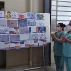 Alunos prestam homenagem a profissionais da saúde