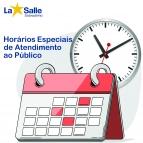 Horários Especiais de Atendimento ao Público