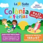 Participe da Colônia de Férias - Julho 2018