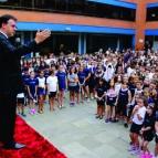 La Salle Canoas recebe a visita do Bispo