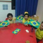 Descobrindo as formas na bandeira do Brasil