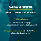 Vaga aberta para Orientador(a) Educacional