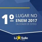 1º Lugar no ENEM 2017, da Cidade de Esteio