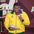 Vitor Afonso, conquista medalha no halterofilismo