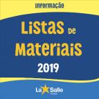 Listas de Materiais 2019 atualizadas