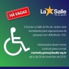 Seleção para vaga de pessoa com deficiência - PcD