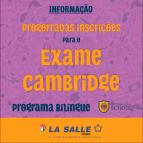 Prorrogadas inscrições para exame Cambridge English