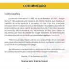 Comunicado Importante - Decreto nº 41.842/DF