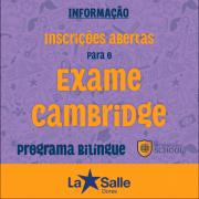 Exame de certificações Cambridge Assessment English