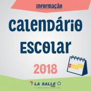 Calendário Escolar Letivo 2018