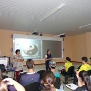 Palestra com alunos da 3ª série do Ensino Médio