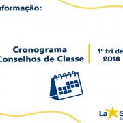 Conselhos de classe 1º Trimestre de 2018