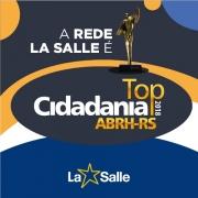 Rede La Salle conquista o prêmio Top Cidadania 2018