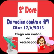 2ª Dose da vacina contra o HPV