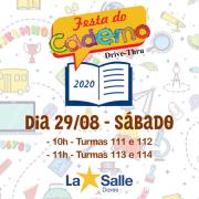 Festa do Caderno acontecerá neste sábado