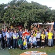 Escoteiros têm atividade no Colégio La Salle Peperi