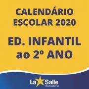 Calendário 2020 - Ed. Infantil ao 2º ano