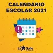 Calendário Escolar 2021 - Homologado