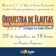 Vem aí a apresentação da Orquestra de Flautas