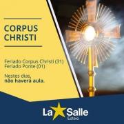 Feriado Corpus Christi e Feriado Ponte