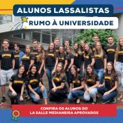 Parabéns aos novos universitários lassalistas!