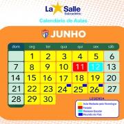 Calendário Escolar - Junho/2020