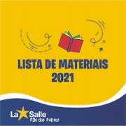 Lista de materiais 2021