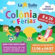 Participe da Colônia de Férias Julho 2019