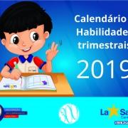 Calendário e Habilidades trimestrais 2019