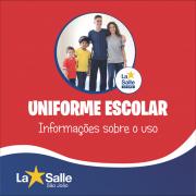 Informações sobre o uso do uniforme escolar