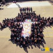 Educandos expõem tapetes de Corpus Christi