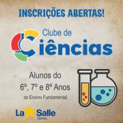 Clube de Ciências está com inscrições abertas