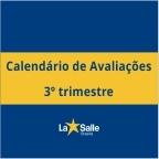 Calendário de Avaliações - 3º Trimestre
