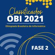 Classificados OBI - FASE 2