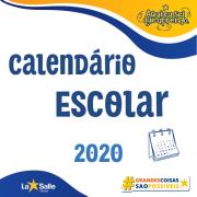 Calendário Escolar Letivo 2020