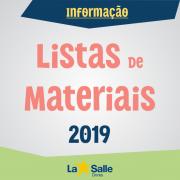 Disponíveis as Listas de Materiais para 2019