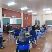 Escola prepara o retorno às aulas presenciais