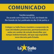 COMUNICADO | Permanência dos estudo domiciliares