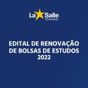 Renovação de Bolsas Sociais para 2022