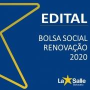 Bolsa Social 2020 - RENOVAÇÃO