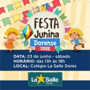 É AMANHÃ! Festa Junina Dorense 2018