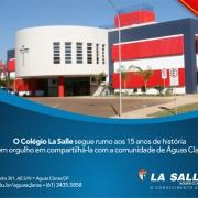 14 anos de história na educação em Águas Claras.