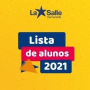 Lista de alunos 2021